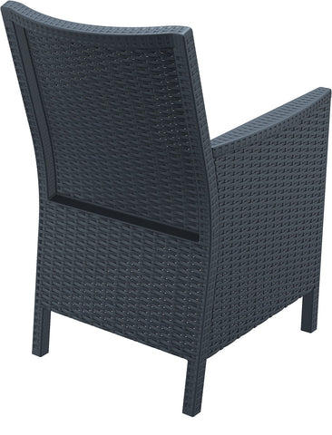 Compamia California Resin Wickerlook Chair Dark Gray ISP806-DG - RestaurantFurniturePlus + Chairs, Tables and Outdoor - 5