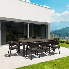 Panama Extendable Patio Dining Set 9 piece