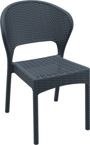 Compamia Daytona Resin Wickerlook Dining Chair Dark Gray ISP818-DG - YourBarStoolStore + Chairs, Tables and Outdoor  - 1