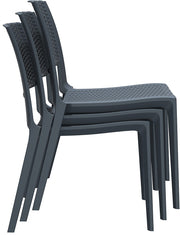 Compamia Verona Resin Wickerlook Dining Chair Dark Gray ISP830-DG - RestaurantFurniturePlus + Chairs, Tables and Outdoor - 6