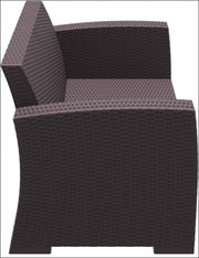 Compamia Monaco Resin Patio Loveseat Brown with Cushion ISP832-BR - YourBarStoolStore + Chairs, Tables and Outdoor  - 6