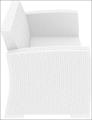 Compamia Monaco Resin Patio Loveseat White with Cushion ISP832-WH - YourBarStoolStore + Chairs, Tables and Outdoor  - 6