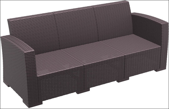 Compamia Monaco Resin Patio Sofa Brown with Cushion ISP833-BR - YourBarStoolStore + Chairs, Tables and Outdoor  - 1