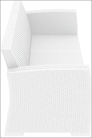 Compamia Monaco Resin Patio Sofa White with Cushion ISP833-WH - YourBarStoolStore + Chairs, Tables and Outdoor  - 5