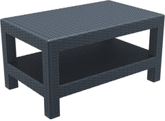 Compamia Monaco Rectangle Patio Coffee Table Dark Gray ISP838-DG - YourBarStoolStore + Chairs, Tables and Outdoor  - 1