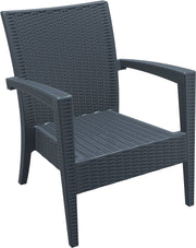 Compamia Miami Resin Club Chair Dark Gray ISP850-DG - RestaurantFurniturePlus + Chairs, Tables and Outdoor - 2