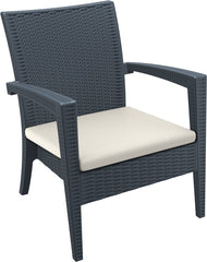 Compamia Miami Resin Club Chair Dark Gray ISP850-DG - RestaurantFurniturePlus + Chairs, Tables and Outdoor - 1