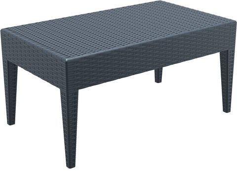 Compamia Miami Rectangle Resin Coffee Table Dark Gray ISP855-DG - RestaurantFurniturePlus + Chairs, Tables and Outdoor - 1
