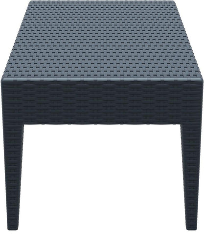 Compamia Miami Rectangle Resin Coffee Table Dark Gray ISP855-DG - RestaurantFurniturePlus + Chairs, Tables and Outdoor - 3