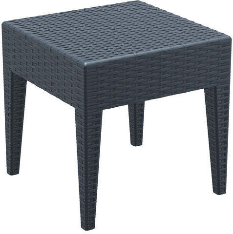 Compamia Miami Square Resin Side Table Dark Gray ISP858-DG - RestaurantFurniturePlus + Chairs, Tables and Outdoor - 1
