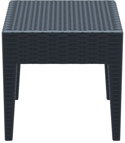 Compamia Miami Square Resin Side Table Dark Gray ISP858-DG - RestaurantFurniturePlus + Chairs, Tables and Outdoor - 2