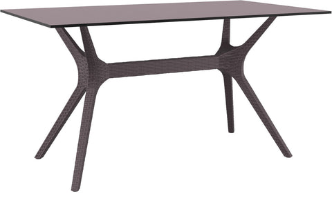 Compamia Ibiza Rectangle Table 55 inch Brown ISP864-BR - 1