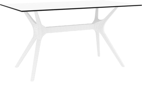 Compamia Ibiza Rectangle Table 55 Inch White ISP864-WH - 1