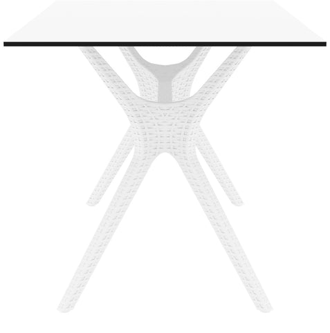 Compamia Ibiza Rectangle Table 55 Inch White ISP864-WH - 2