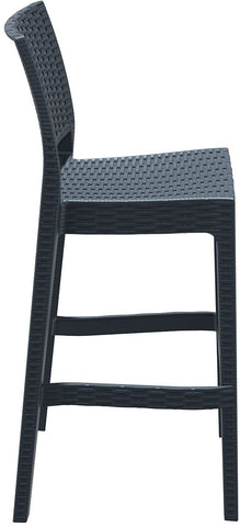 Compamia Jamaica Resin Wickerlook Barstool Dark Gray ISP866-DG - RestaurantFurniturePlus + Chairs, Tables and Outdoor - 2