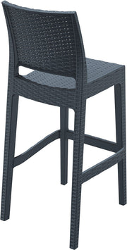 Compamia Jamaica Resin Wickerlook Barstool Dark Gray ISP866-DG - RestaurantFurniturePlus + Chairs, Tables and Outdoor - 4