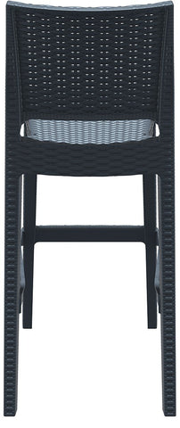 Compamia Jamaica Resin Wickerlook Barstool Dark Gray ISP866-DG - RestaurantFurniturePlus + Chairs, Tables and Outdoor - 5