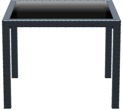 Compamia Miami Resin Wickerlook Square Dining Table Dark Gray 37 inch ISP870-DG - RestaurantFurniturePlus + Chairs, Tables and Outdoor - 2