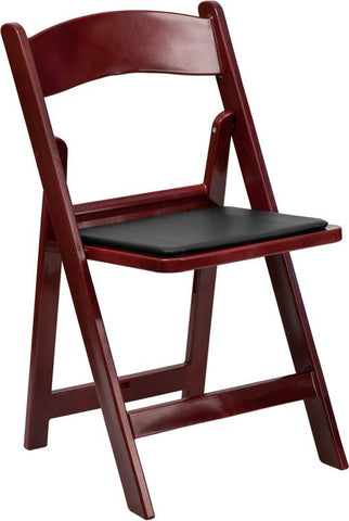 1000 lb. Capacity Resin Folding Chair with Vinyl Padded Seat