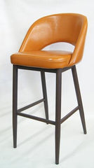 Wood Grain Metal Frame Barstool