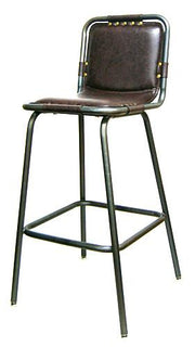 Metal Bar Stool w/Vinyl Seat