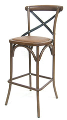 Metal Frame Bar Stool w/ vinyl seat