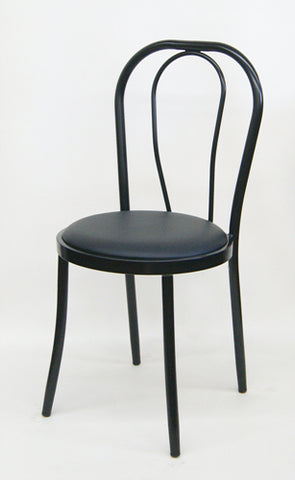 Metal Chair w/Vinyl Seat