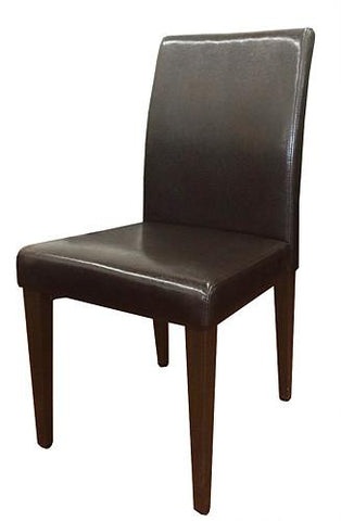 Wood Grain Metal Frame side chair w/Espresso Vinyl