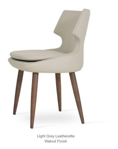 Patara Chair with Wood Base  - YourBarStoolStore + Chairs, Tables and Outdoor