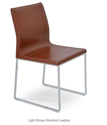 Polo Chair with Metal Sled Base - YourBarStoolStore + Chairs, Tables and Outdoor - 1
