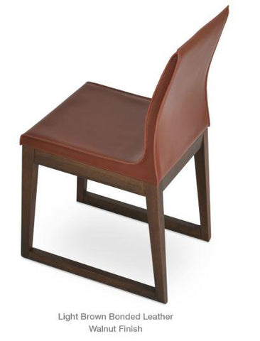 Polo Chair with Wood Sled Base - YourBarStoolStore + Chairs, Tables and Outdoor - 2