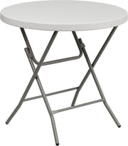 Granite White Plastic Folding Table