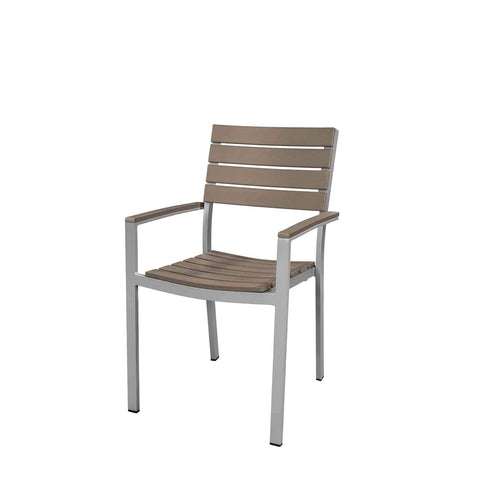 Vienna Dining Arm Chair (Gray) - YourBarStoolStore + Chairs, Tables and Outdoor  - 1