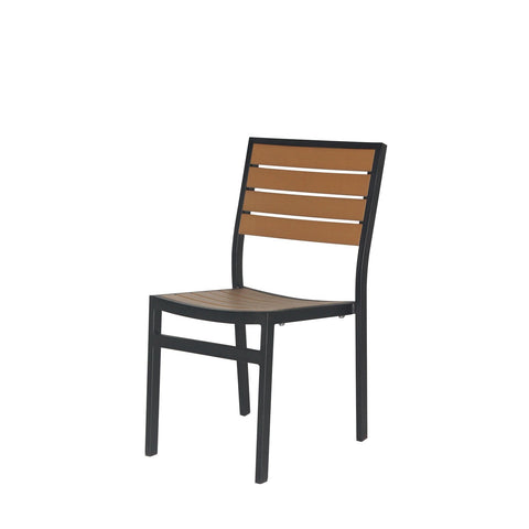 Napa Dining Side Chair (Black & Teak) - YourBarStoolStore + Chairs, Tables and Outdoor