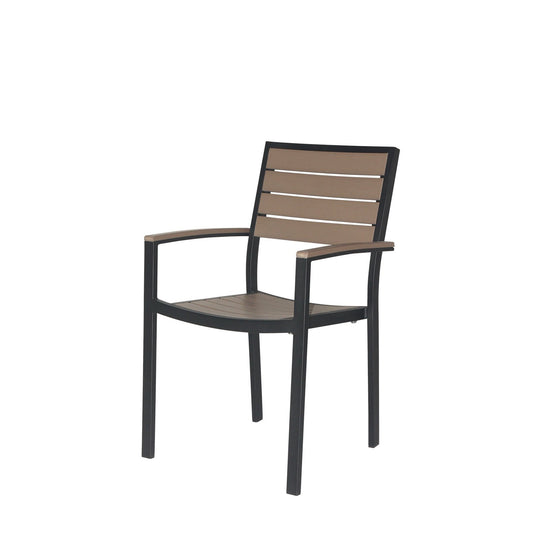 Napa Dining Arm Chair (Black & Gray) - YourBarStoolStore + Chairs, Tables and Outdoor  - 1
