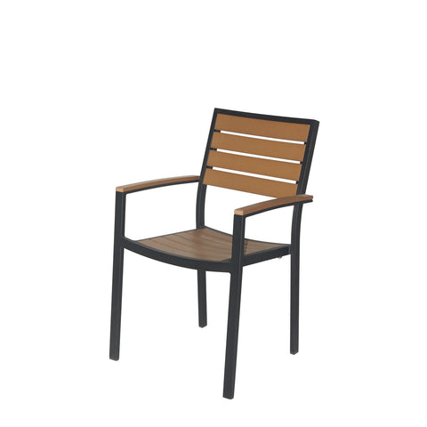 Napa Dining Arm Chair (Black & Teak) - YourBarStoolStore + Chairs, Tables and Outdoor  - 1