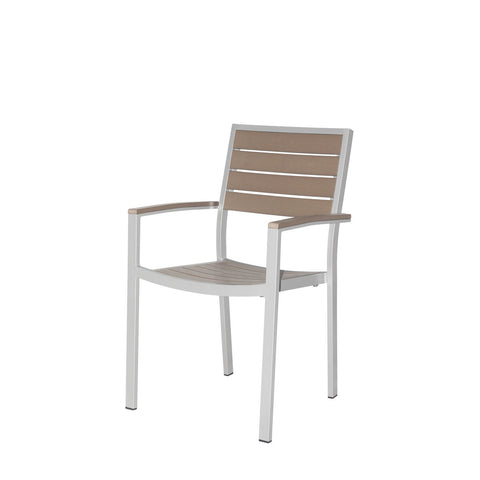 Napa Dining Arm Chair (Silver & Gray) - YourBarStoolStore + Chairs, Tables and Outdoor  - 1