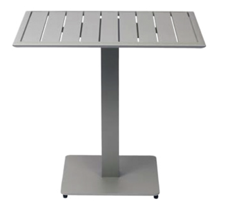 Aluminum Slat Outdoor Table Top - with base