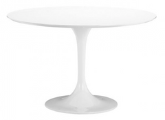 "White 47"" Round Table"