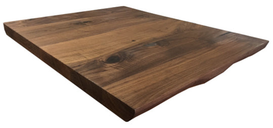 "2"" Thick Plank Black Walnut Live Edge Table Top"