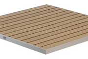 Synthetic Teak Aluminum Edge Outdoor Square/ Rectangular Table Tops