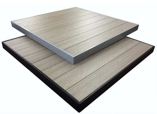 Outdoor Aluminum Gray Brown Table Top