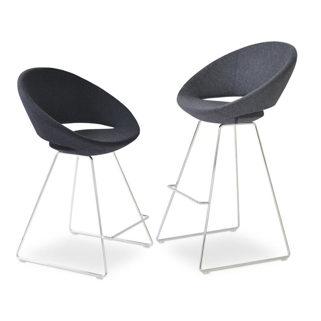Commercial Soho Concept Crescent Wire Counter Stools Bar Stools