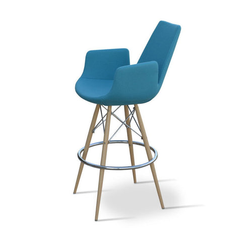 Soho Concept Eiffel Arm MW Counter Stools - YourBarStoolStore + Chairs, Tables and Outdoor - 3