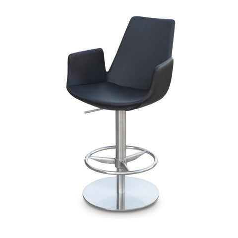 Soho Concept Eiffel Arm Piston Counter Stools - YourBarStoolStore + Chairs, Tables and Outdoor - 1