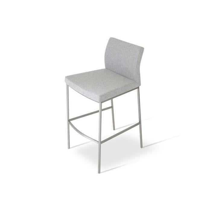 Soho Concept Pasha Chrome Counter Stools - YourBarStoolStore + Chairs, Tables and Outdoor - 1