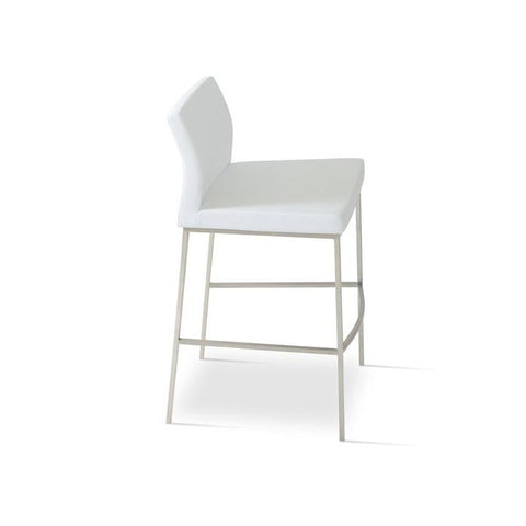Soho Concept Pasha Chrome Counter Stools - YourBarStoolStore + Chairs, Tables and Outdoor - 5
