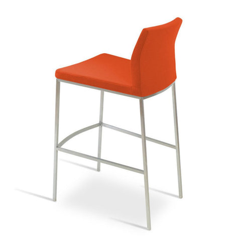 Soho Concept Pasha Chrome Counter Stools - YourBarStoolStore + Chairs, Tables and Outdoor - 2