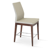 Soho Concept Pasha Wood Counter Stools - YourBarStoolStore + Chairs, Tables and Outdoor - 1