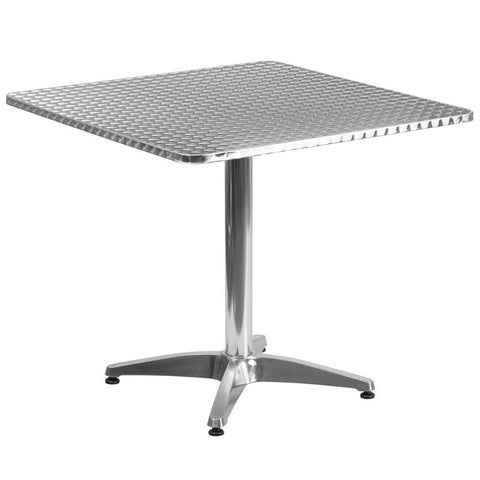 Square Aluminum Indoor-Outdoor Table with Base